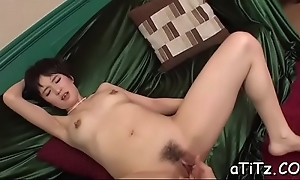 Handsome japanese hotty charms there rousing titty fuck