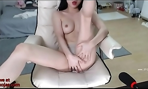 Busty Asian plays with will not hear of pussy