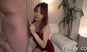 Beautiful japanese hotty achieves hot agonorgasmos non-native wild sex