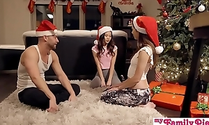 Stepbro'_s Christmas Threesome Added to Florence Nightingale Creampie - My Family Pies S5:E6