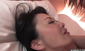 Hairy Japanese doll with big tits pussy drilled dean like