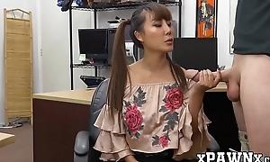 18yo Asian Tiffany Rain doggystyled with pawnbroker flannel
