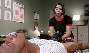 Asian doctor wanking big black weasel words
